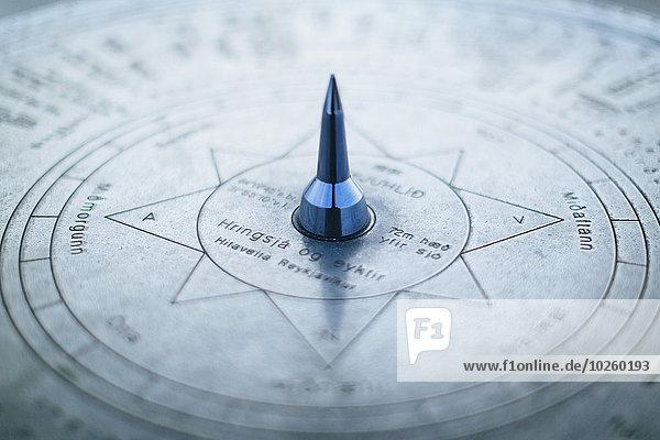 Detail des Kompasses