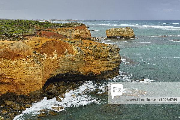 Küste Anordnung Peterborough Victoria Erosion Australien Great Ocean Road