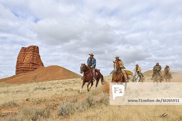 Vereinigte Staaten von Amerika USA Hintergrund Cowgirl Cowboy