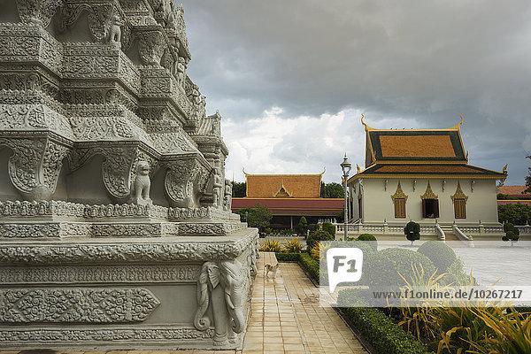 Phnom Penh Hauptstadt Asche König - Monarchie Behälter Kambodscha Stupa