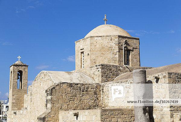 Kuppel überqueren Gebäude Kirche Kreuz Zypern Kuppelgewölbe