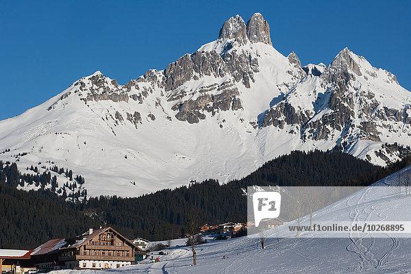 Berg Hut Berggipfel Gipfel Spitze Spitzen Alpen Wintersportort Österreich österreichisch