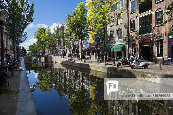 Amsterdam Hauptstadt Gebäude Spiegelung Niederlande Reflections