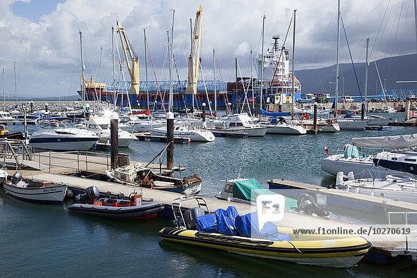 Hafen Boot Dock Schiff groß großes großer große großen Kerry County Irland