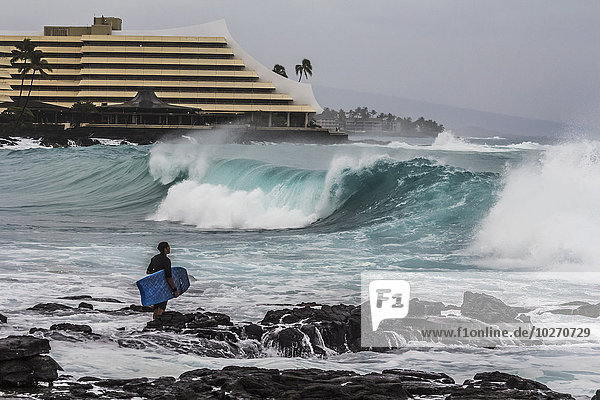 nahe beobachten Amerika Monarchie Urlaub groß großes großer große großen Verbindung Kona Hawaii
