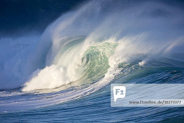Amerika zerbrechen brechen bricht brechend zerbrechend zerbricht Verbindung Bucht Hawaii North Shore Oahu Waimea