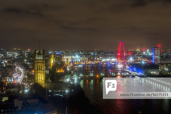 London Blick von Altitude 360  Millbank Tower; London  England