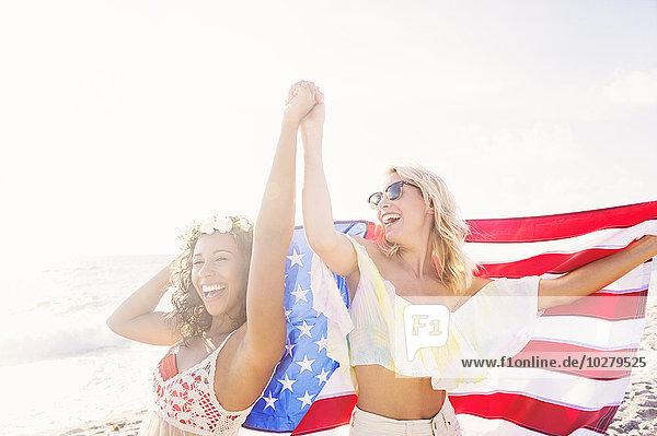 Freundschaft Strand Fahne amerikanisch Freundschaft,Strand,Fahne,amerikanisch