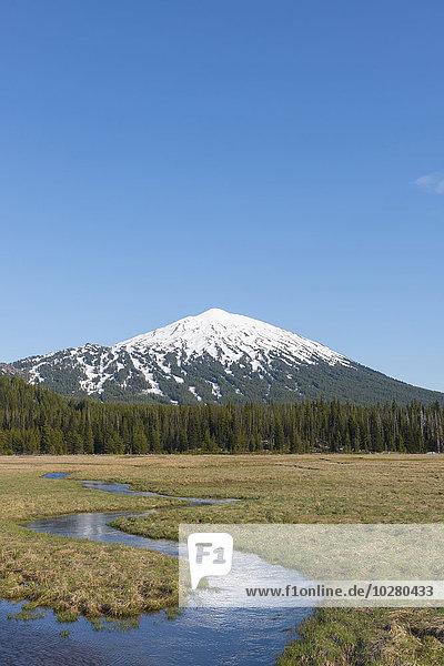 Schneedecke Ansicht Berg