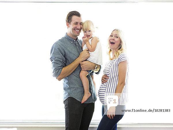 Portrait Menschliche Eltern Tochter
