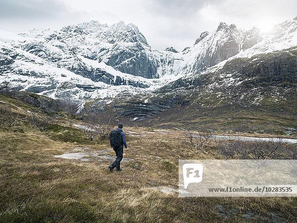 Berg Mann wandern