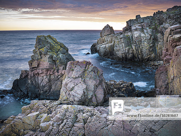 Felsen Sonnenuntergang Küste