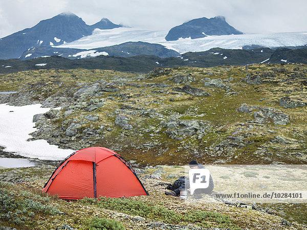 Berg camping wandern