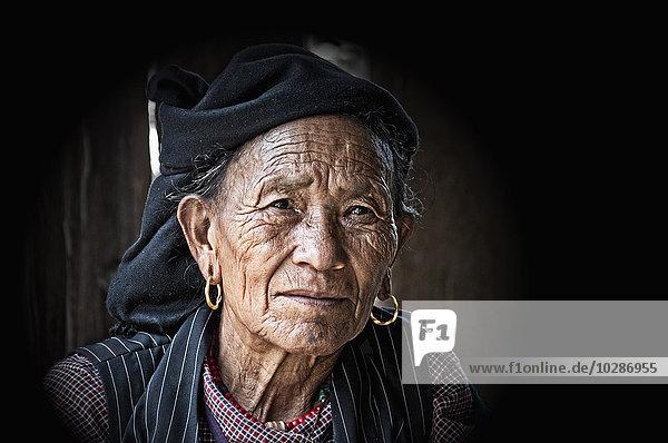 Close-up of a senior woman  Nepal
