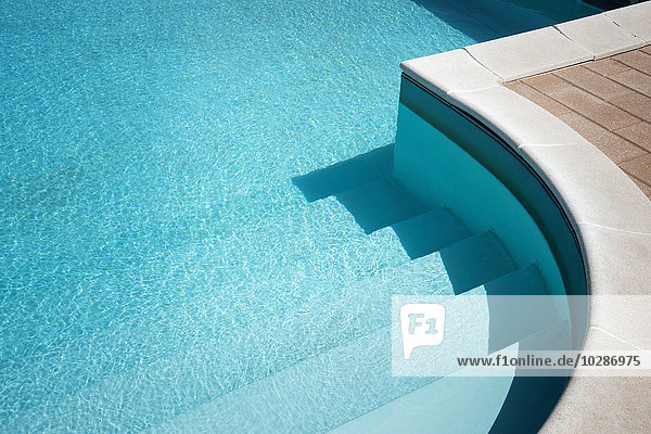 Sunlight reflected in swimming pool  Puglia  Italy Sunlight reflected in swimming pool, Puglia, Italy