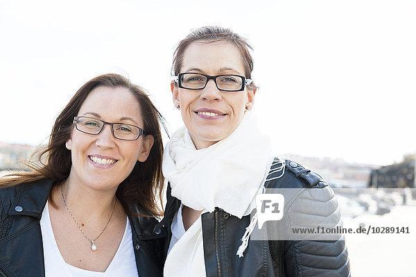 Schweden  Vastergotland  Göteborg  Portrait zweier Freunde