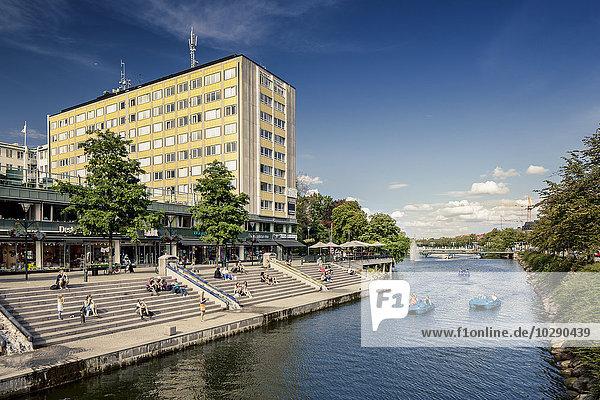 Schweden  Skane  Malmö  Sodertul  Bauen am Kanal