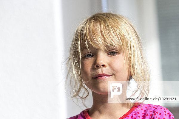 Girl smiling at camera  Kiel  Schleswig-Holstein  Germany  Europe