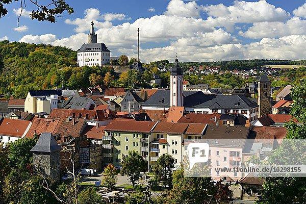 Osterburg und Altstadt von Weida  Thüringen  Deutschland  Europa
