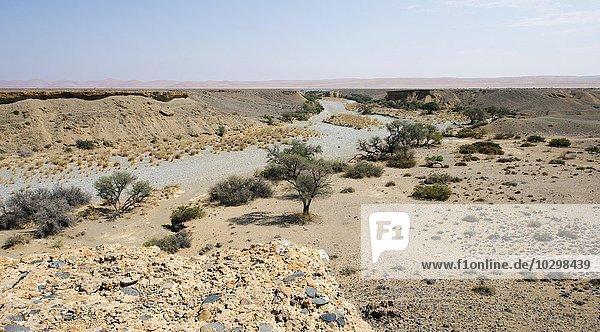 Sesriem Canyon  Trockenfluss Tsauchab  Namibia  Afrika