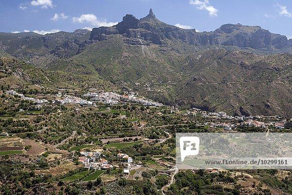 Ausblick auf Tejeda und den Roque Nublo  Gran Canaria  Kanarische Inseln  Spanien  Europa