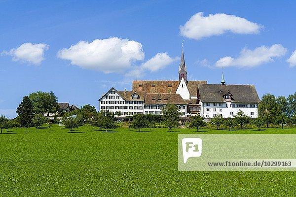 Kloster Kappel  Agrarlandschaft  Kappel  Zürich  Schweiz  Europa