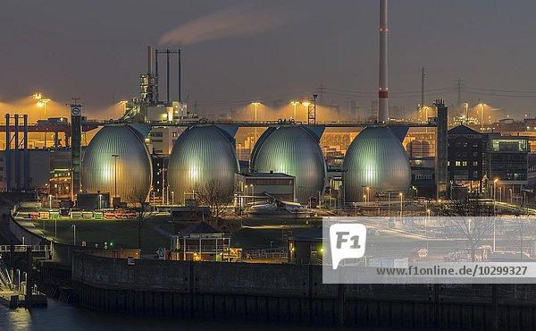 Klärwerk  Hafen  Hamburg  Deutschland  Europa