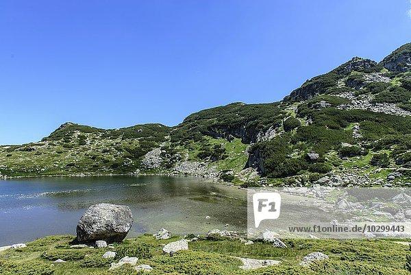 Landschaft  See  Berge  sieben Seen Platte  Rila-Gebirge  Bulgarien  Europa