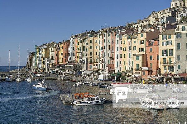 Hafen  Portovenere  Ligurien  Italien  Europa
