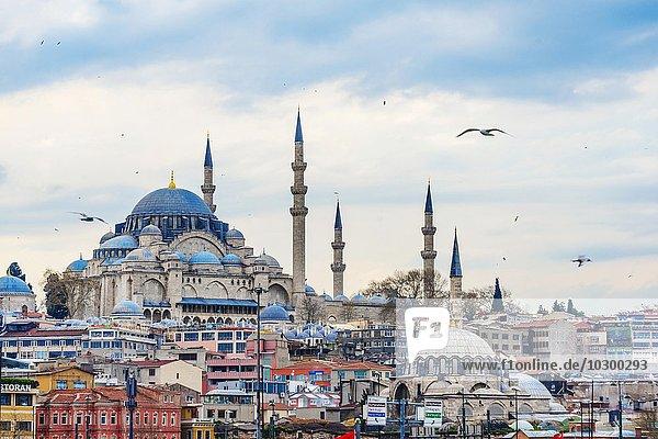 Asien Goldenes Horn Istanbul Süleymaniye-Moschee Türkei