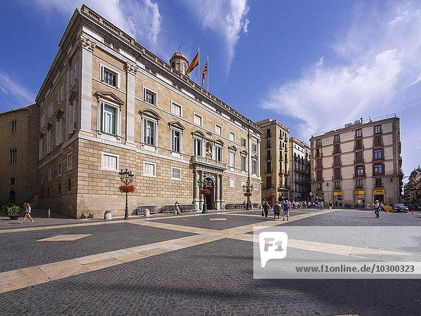 Sitz der katalanischen Landesregierung  Palau della Generalitat  Plaça de Sant Jaume  Barcelona  ??Katalonien  Spanien  Europa