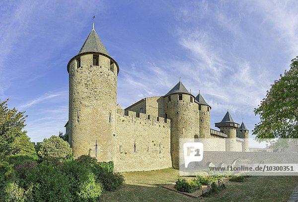 Grafenschloss  Château comtal  Cité de Carcassonne  Languedoc-Roussillon  Frankreich  Europa
