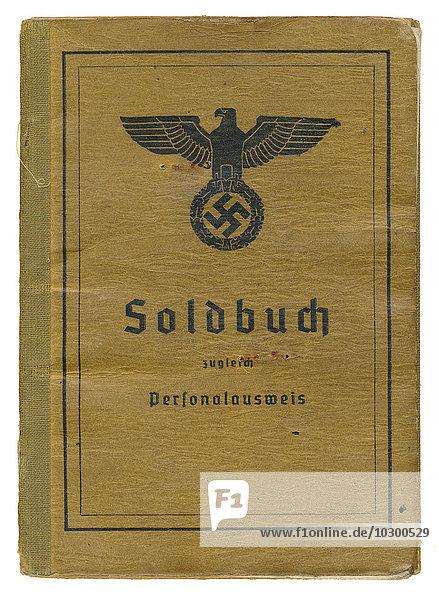 German pay book  1943  Deutsches Reich  Germany  Europe