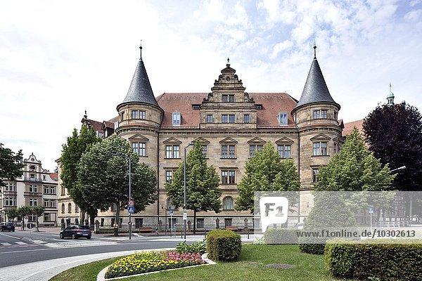 Justizgebäude mit Oberlandesgericht  Landgericht und Staatsanwaltschaft  Bamberg  Oberfranken  Bayern  Deutschland  Europa