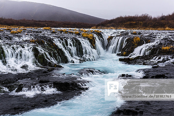 Bruarfoss Wasserfall  Laugarvatn  Island  Europa