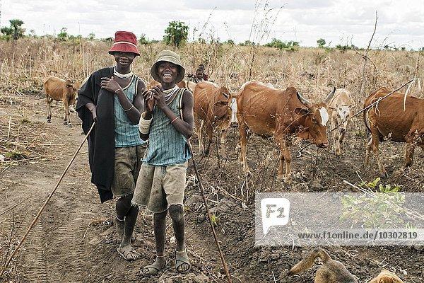 Wasukuma Hirter-Jungen  Kilombero-Tal  Tansania  Afrika