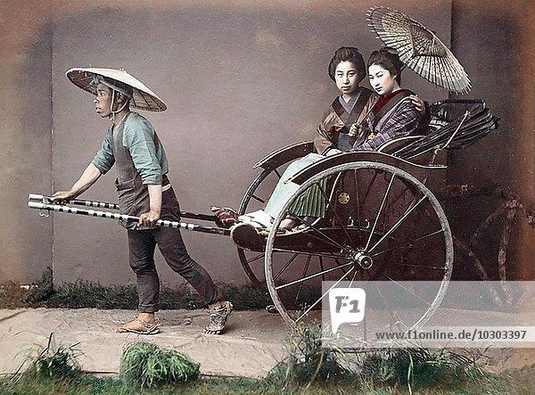 Rikscha  Japan  Asien