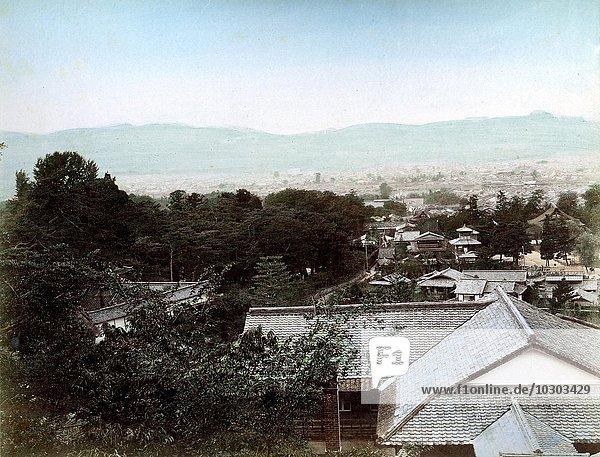 Stadtansicht  Ort unbekannt  Japan  Asien