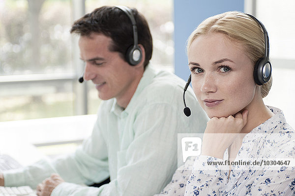 Operator im Callcenter  Portrait