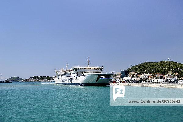 Croatia  Split  ferry at city harbor Riva