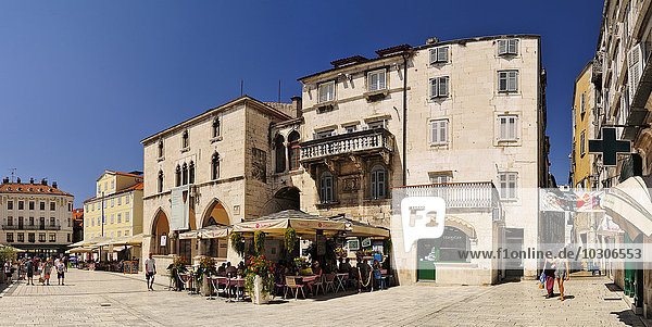 Croatia  Split  main square with ethnographical museum