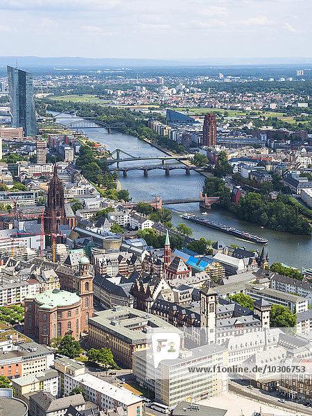 Deutschland  Hessen  Frankfurt  Stadtbild am Main