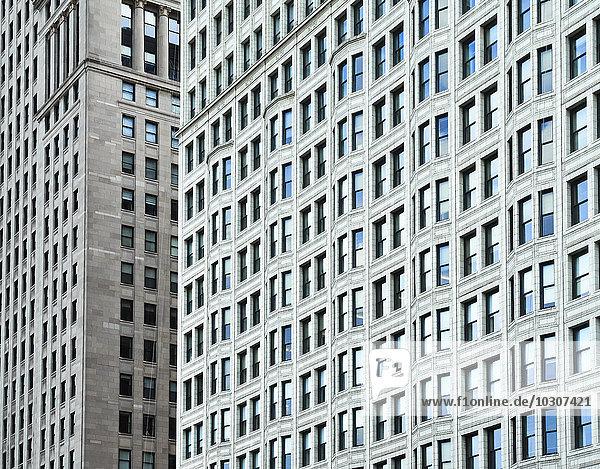 USA  Illinois  Chicago  Hochhaus  Fassaden