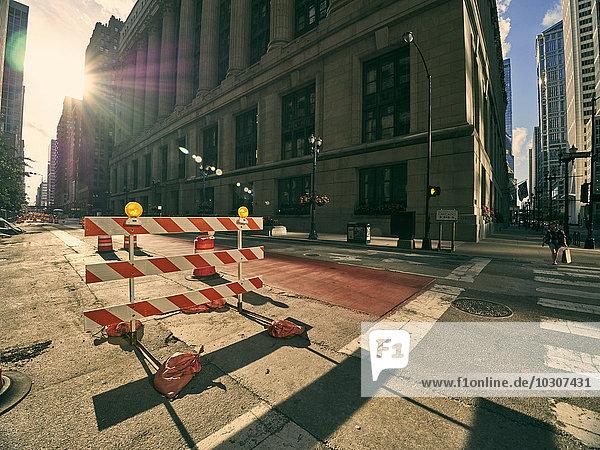 USA  Illinois  Chicago  Baustelle am Scheideweg