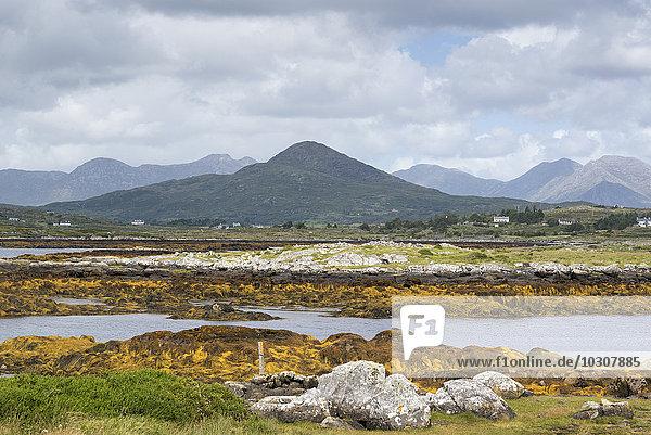 Irland  County Galway  Marshy Landschaft in der Region Connemara