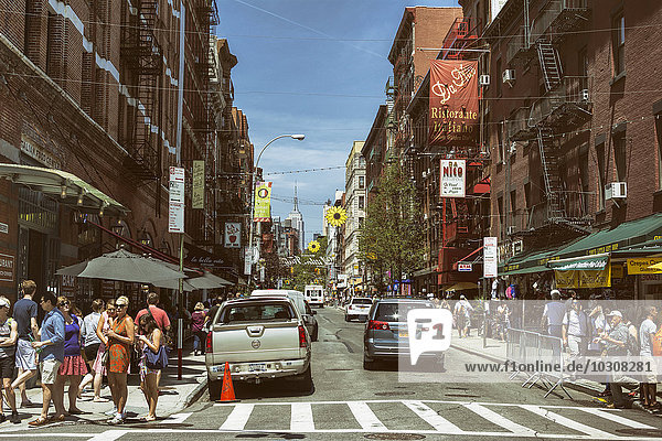 USA  New York City  Street life in Little Italy