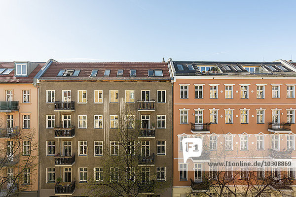 Germany  Berlin  House fronts of residential buildings Germany, Berlin, House fronts of residential buildings