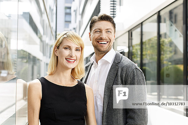 Portrait von zwei Geschäftspartnern