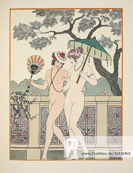 Kuhn-Regnier  Joseph (1873-1940) Walking around naked as much as we can  illustration from The Works of Hippocrates  1934 (colour litho)