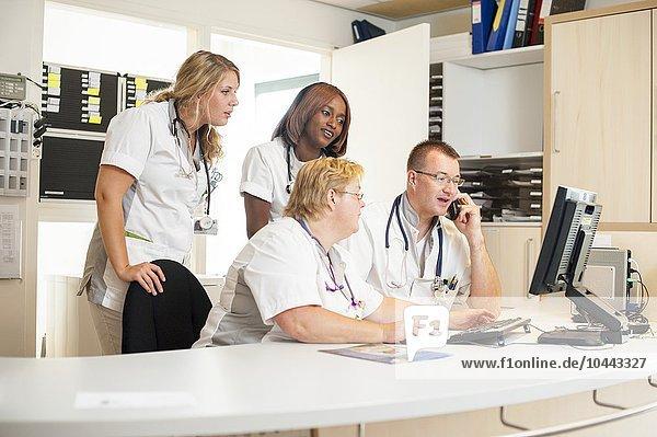 MODEL RELEASED. Hospital nurses. Hospital nurses